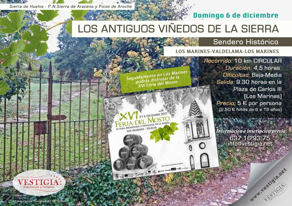 Cartel Los antiguos viñedos de la Sierra br