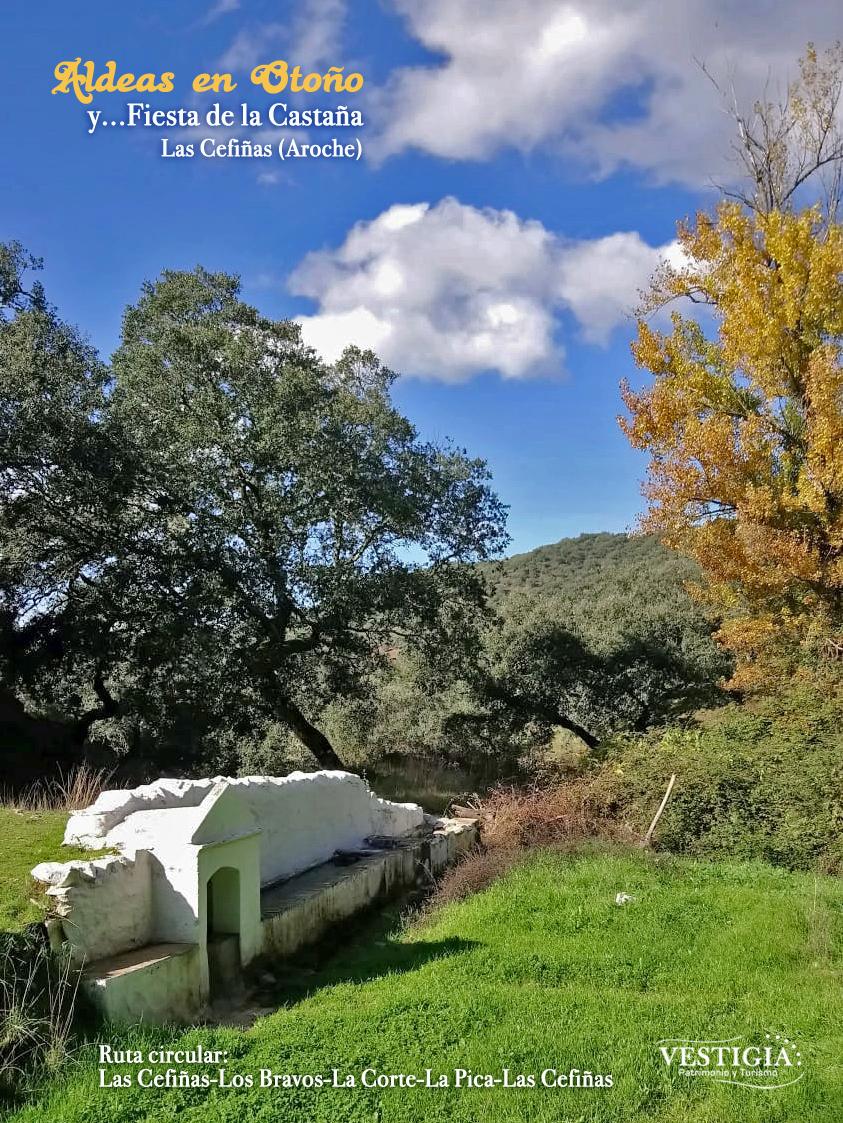 Cartel Aldeas en otoño y Fiesta de la Castaña Las Cefiñas
